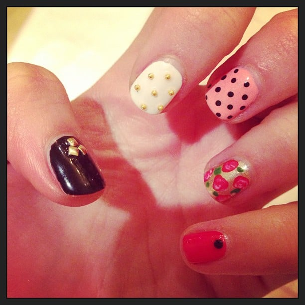 Lena Dunham showed us a sneak peek of her manicure last night. Source: Instagram user lenadunham
