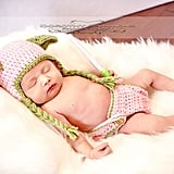 Pink Yoda Hat and Diaper Cover