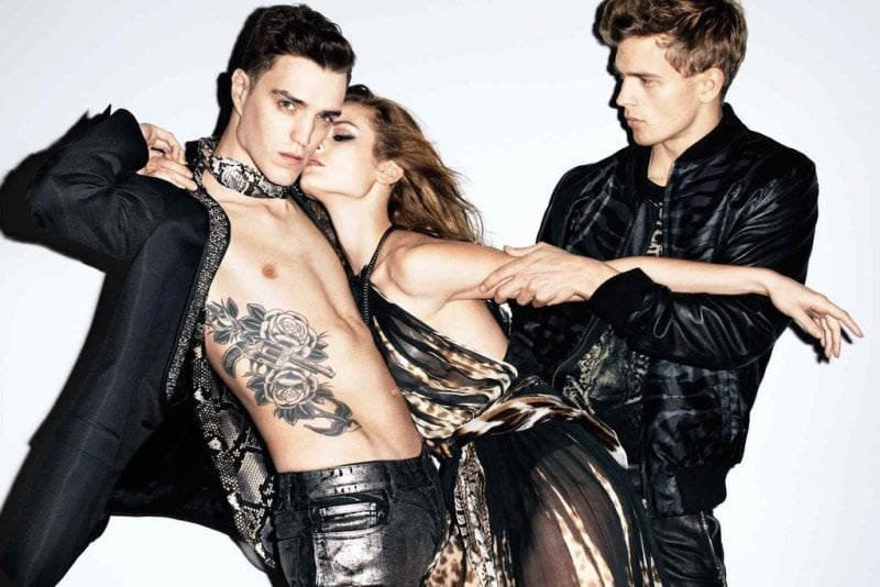 This Just Cavalli Spring '12 ad is dark and sexy. Source: Fashion Gone Rogue