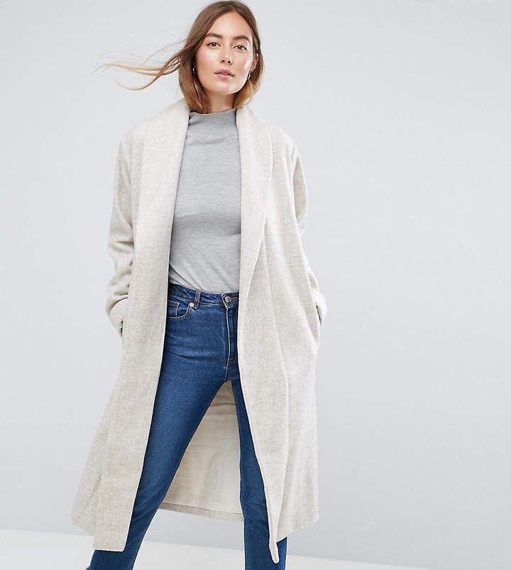 ASOS Tall Shawl Collar Belted Coat