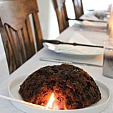 For dessert, you can't go wrong with flaming Christmas pudding.