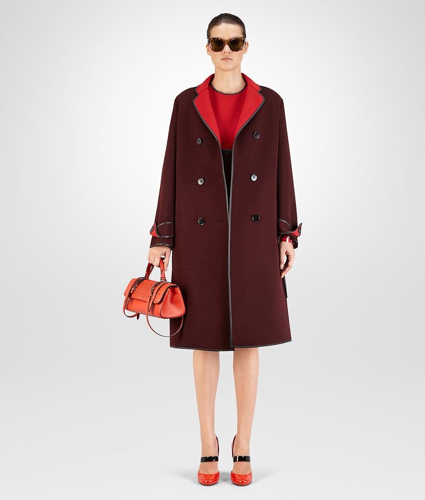 Bottega Veneta Coat in China Red Barolo Technical Crepe ($3,300)
