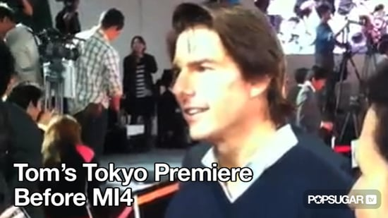 Video of Tom Cruise on the Red Carpet in Tokyo Talking About Mission Impossible 4