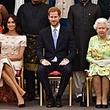ميغان ماركل والأمير هاري يتصدّران الحضور في حفل جوائز القادة الشباب الذي ترعاه الملكة، خلال شهر يونيو من العام الجاري، 2018.