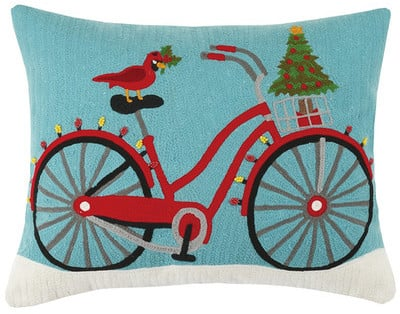 Christmas Bike Pillow ($30, originally $63)