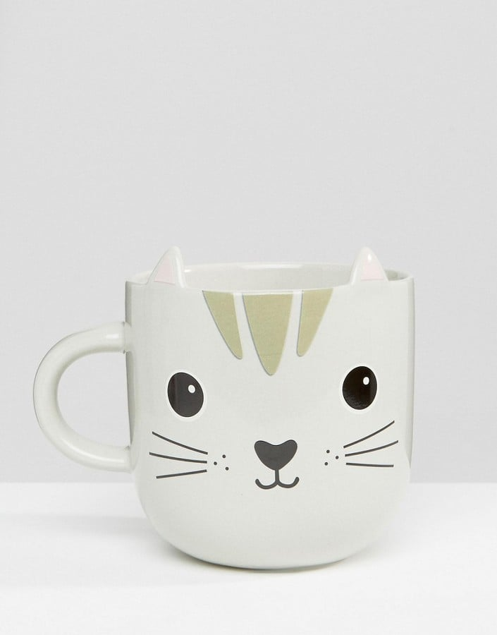 Sass & Belle Cat Mug ($16) - Gifts For Cat Owners Under $25 - POPSUGAR Pets Photo 1070 Gifts For the Cat-Lover in Your Life — All Under $25 - 웹