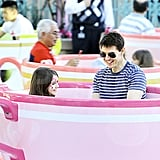 Tom Cruise and Suri Cruise rode the teacups.