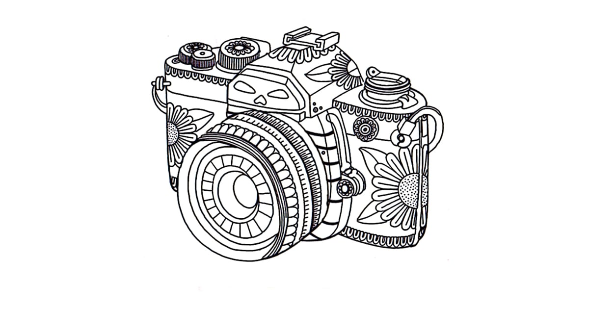 photo relating to Camera Printable known as Just take the coloring webpage: Digital camera Totally free Printable Coloring
