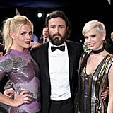 When Casey Affleck Was Surrounded by These Sequined Beauties