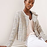 Loft Frayed Tweed Jacket