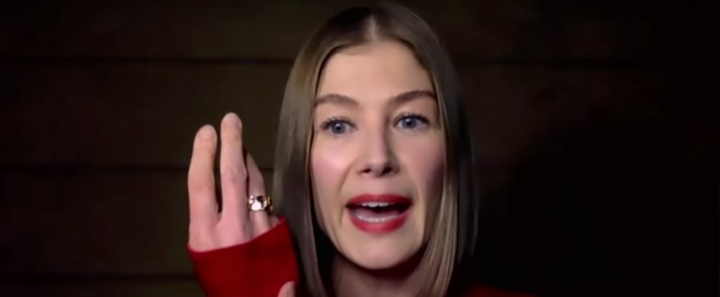 Rosamund Pike Says She Buries Awards in Her Garden | Video