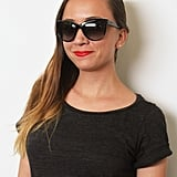 These chic and subtle Chanel sunglasses ($650) are even classier when you notice there's a rim of pearls placed behind the upper frame. For such a timeless look, Sonia Kashuk's Red Orange lip color ($10) is the way to go.