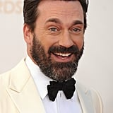 The most talked about hair of the evening actually belonged to Jon Hamm. His non-Don Draper-like beard had the social media sphere abuzz.