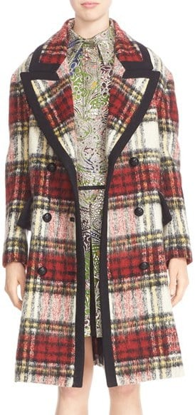 Burberry Tartan Plaid Wool Blend Coat ($3,695)