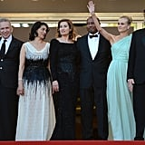 Diane Kruger waved among her fellow jurors at the opening of the Cannes Film Festival and the premiere of Moonrise Kingdom.