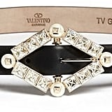 Valentino Studded Pearl Leather Belt