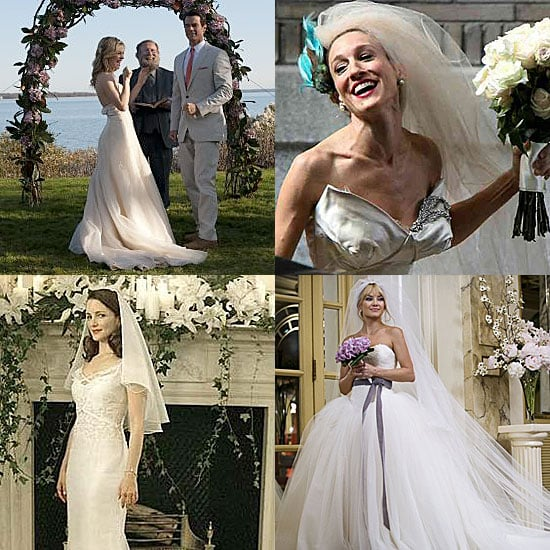 Famous Movie Brides Dresses Including Elizabeth Taylor Angelina Jolie Kate Hudson And Sarah Jessica