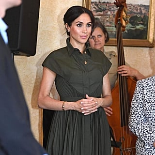 Meghan Markle's Green Brandon Maxwell Dress October 2018