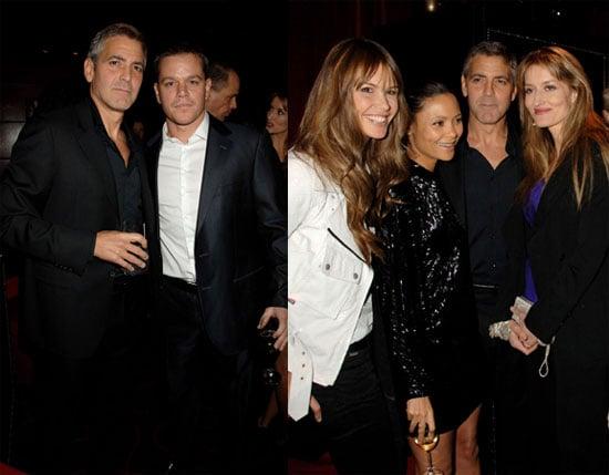 Clooney Plays Ladies' Man With Matt's Help
