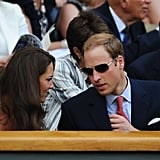 Kate Middleton wore a flirty white dress for the date.