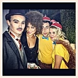 Pretty Little Liars costars Shay Mitchell (as Foxy Brown) and Ashley Benson (as either Tweedledee or Tweedledum) posed together.  Source: Instagram user shaym
