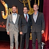 Aaron Paul and Neil Patrick Harris posed for photos with Bruce Rosenblum.