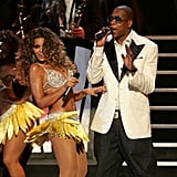 Beyoncé and Jay Z shared the stage during September 2009's Fashion Rocks Concert in NYC's Radio City Music Hall.