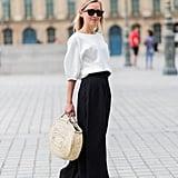 Accessorise a simple, monochrome outfit.