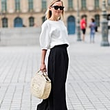 Accessorize a simple, monochrome outfit.