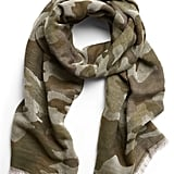 Camo Wool-Cotton Scarf