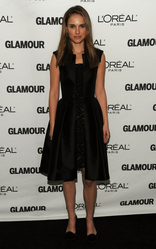 Natalie Portman in a Little Black Dress at the 2008 Glamour Women of the Year Awards