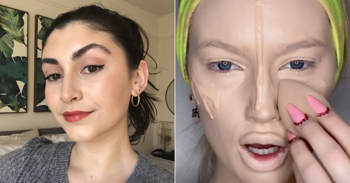 I Tried 3 (Slightly Intimidating) TikTok Foundation Hacks — and This One Was the Best.jpg