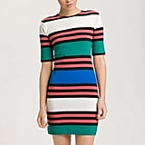 We love the color combo on this striped dress.  French Connection Jag Multi Stripe Jersey Dress ($98)