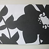 Black and White Luau Invite: Step by Step