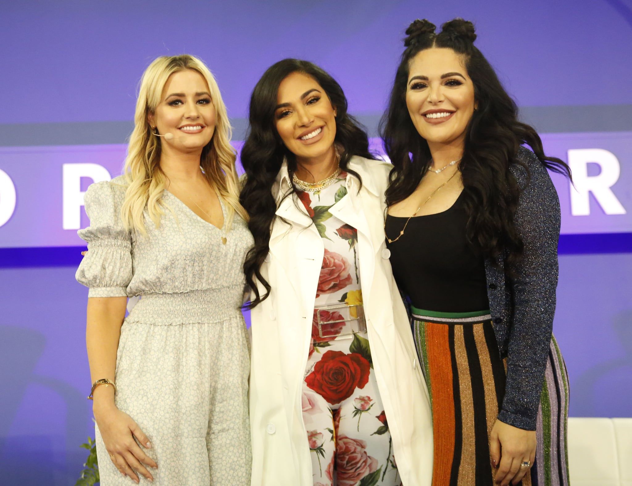 Pictured: Kirbie Johnson, Huda Kattan, and Mona Kattan