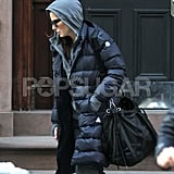 Sandra Bullock Flashes Some Skin in the NYC Snow