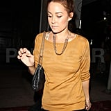 Lauren Conrad wore her hair in a high bun.