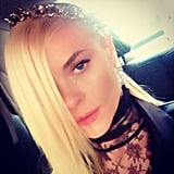 Jaime King shared a picture in the car on the way to the Met Gala. Source: Instagram user jaime_king