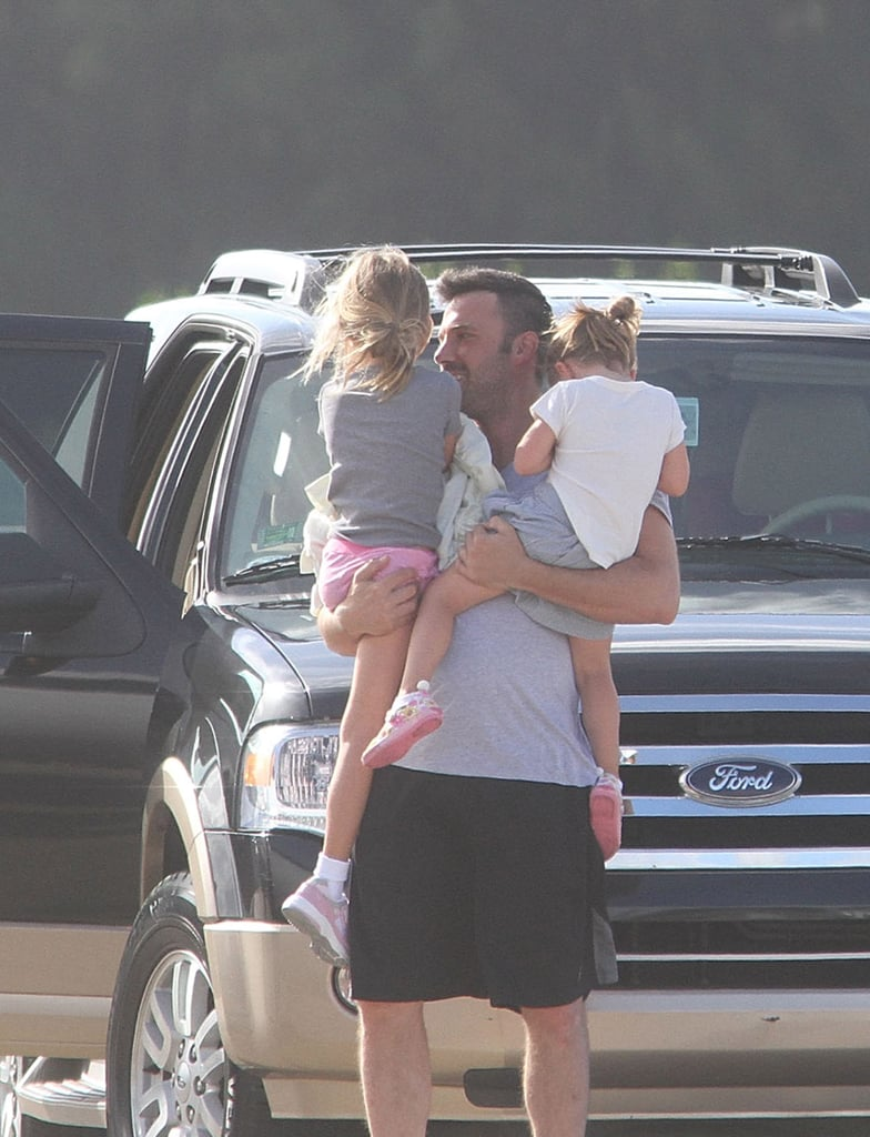 Ben Affleck was so cute with his daughters Seraphina Affleck and Violet Affleck.