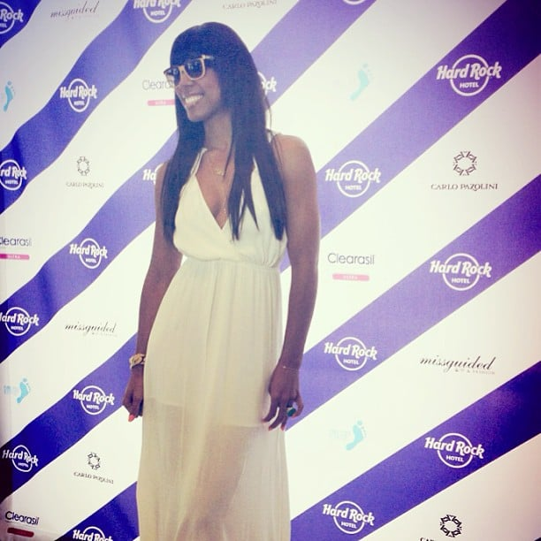 Kelly Rowland stopped by the Hard Rock Music Lounge during the first weekend of Coachella on Friday.  Source: Instagram user kellyrowland