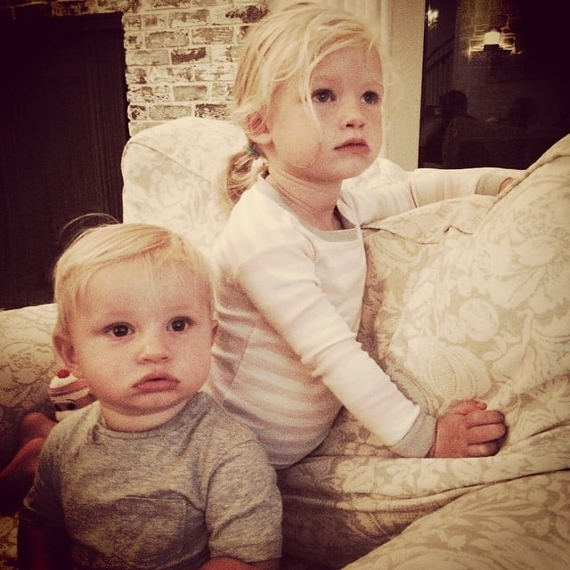 """Jessica Simpson loves to share adorable family moments on Instagram, and we can't get enough. When Jessica and her husband, Eric Johnson, returned from their honeymoon, she immediately shared a cute photo of Ace and Maxwell. """"There is no way these kids could be more adorable. OMG! So happy to be home snuggling!"""" she captioned it. There are plenty more where that came from, so keep reading to see all of their social media snaps, including selfies of Jessica and Max and Eric literally juggling both of their kids. Source: Instagram user jessicasimpson"""