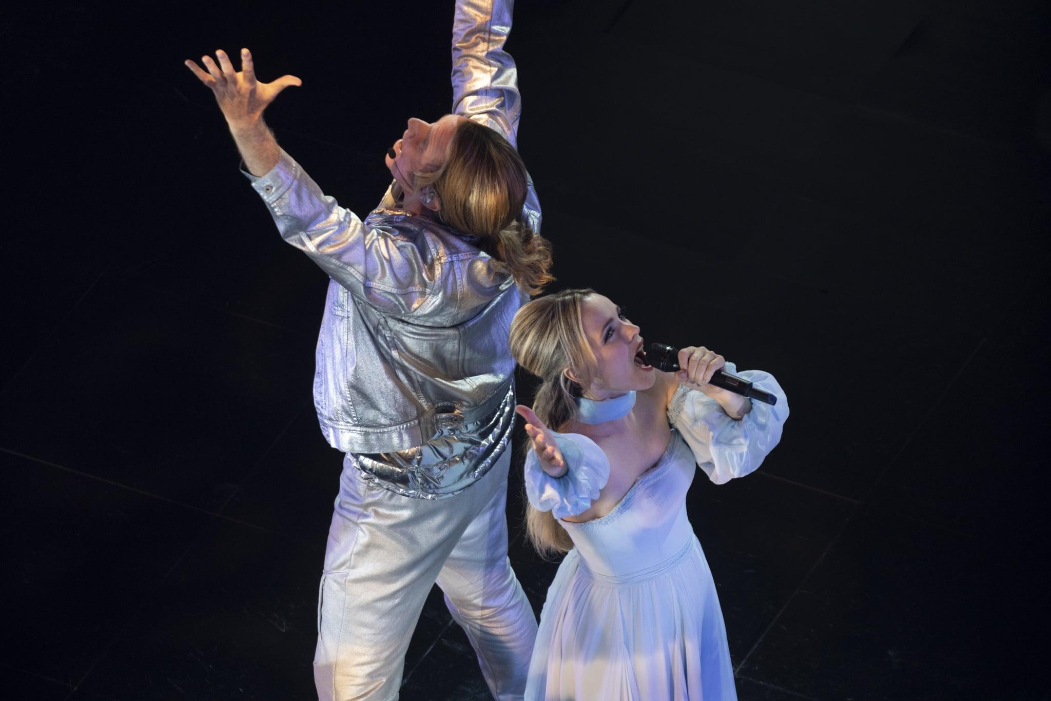 EUROVISION SONG CONTEST: The Story of Fire Saga - Will Ferrell as Lars Erickssong, Rachel McAdams as Sigrit Ericksdottir. Credit John Wilson/NETFLIX  2020
