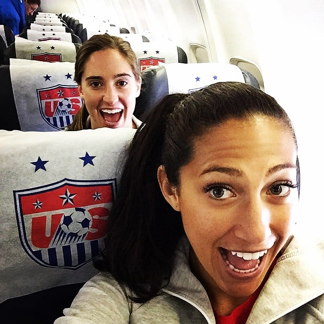 Morgan Brian and Christen Press were excited to get to