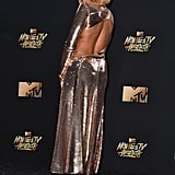 Taraji P. Henson Gold Dress at 2017 MTV Movie and TV Awards