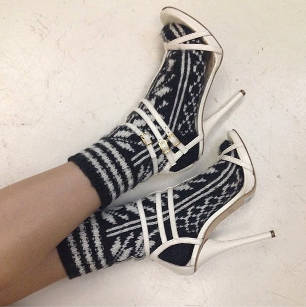 Who says socks and sandals are a fashion faux pas? Not Hanneli Mustaparta! Source: Instagram user hannelim