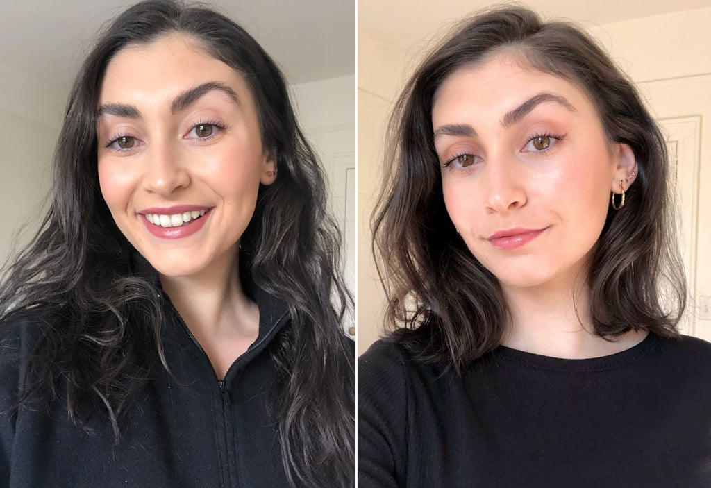 Before and After My Lob Haircut