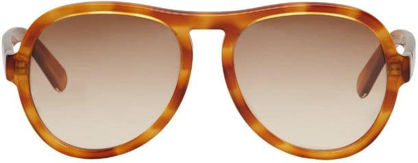 Warm up with these honey-tone Chloé Tortoiseshell Aviator Sunglasses ($310).