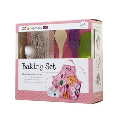 DC Cupcakes Kids Apron & Baking Set