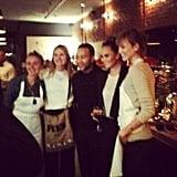 Blurry, but still adorable, with Chrissy Teigen, John Legend, Karlie Kloss, and Lauren Bush.
