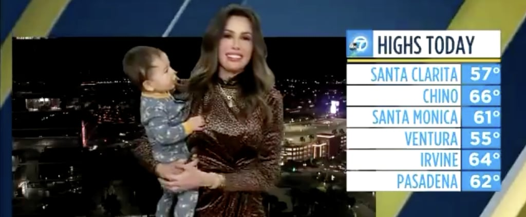 Baby Interrupts Mom's Weather Forecast | Twitter Video